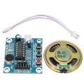 Arduino Voice Record Sound Module ISD1820 , Free Speaker