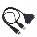 USB2.0 To SATA 22 Pin Hard State Cable Adapter Connecter Convert