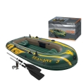 INTEX 68380 Seahawk 3 Person Inflatable Boat Set FREE 2x Oars