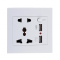 Universal Wall Power Socket Dual USB Ports Charger Outlet Plug Adapter