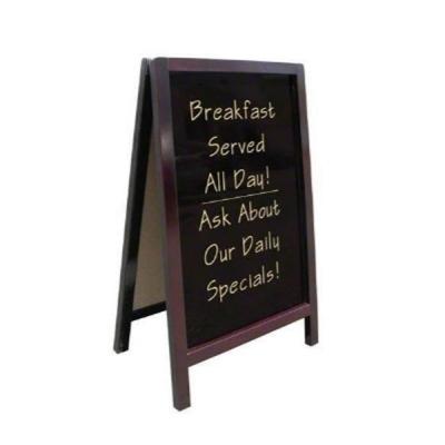 Cafe Coffee Shop Menu 2 Side Wood Board Whiteboard Blackboard 100x60cm