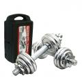 Chrome Dumbell & Barbell Weight Lifting Set 10KG 15KG 20KG [YORK]