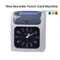 Analog Punch Card Time Recorder Machine Attendance Time
