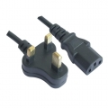 3 Pin UK Plug To Desktop PC/CPU Power Supply Cable 1.5m