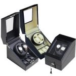 Plano Gloss Auto Watch Winder Rotate Display Storage Box (2+3)