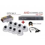 8 Channel CCTV AHD + DVR + NVR CCTV P2P Network HD Recorder