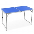 Portable Foldable Aluminium Table Camping Outdoor Table 120cm (Blue)