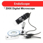 25x to 200x USB Microscope Endoscope 2MP Sensor with Adjustable Stand