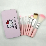 Makeup Set Hello Kitty Brush 7 Pieces Brush Set With Iron box