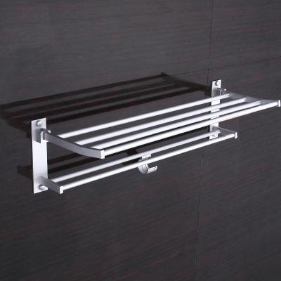 60cm Aluminum Bathroom Towel Hook Holder Hanger Rack Shelf