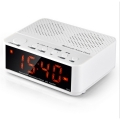 Bluetooth Wireless Speaker with Alarm Clock, Radio, SD card, USB WHITE