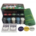 Poker Set 200 Chips Texas Hold Casino - Complete Metal Set