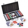 Poker Set With 300 Chips c/w Aluminium Case Casino Games