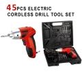 DCTOOLS Drill Electric Screwdriver 45 Pcs in 1 Drill Set Cordless
