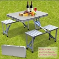 Picnic Table Foldable Aluminium Outdoor Camping Table with 4 Chair