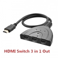 HDMI SWITCH 3 in 1 Out with Cable (1985)