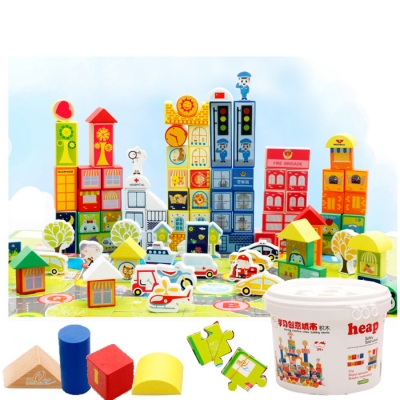 Muwanzi Toy Block 156pc Educational Wooden Building Alphanumeric