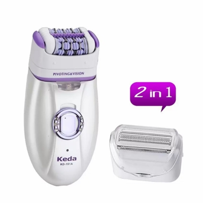 Keda kd-191A 2-in-1 Epilator Ladies Hair Removal Shaver Trimmer