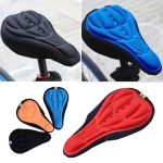 Bike Bicycle 3D Silicone Saddle Seat Cover Gel Cushion Soft Pad Cover