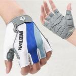 Pearl Izumi Men Elite Gel Half Finger Cycling Gloves Bicycle WHITE