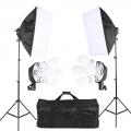 2 Stand Light Studio Lighting Soft box Photo Equipment Kit