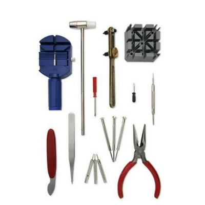 16 Piece Watch Repair Tool Kit Band Open Back Case - no box (2120)