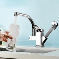 360 Hot & Cold Water Faucet Pull out Chrome Tap (2321)