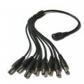 CCTV Camera DC Power Supply Splitter Cable Split 4 or Split 8