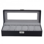 Carbon Fiber Watch Display Storage Box  (6 Slot)